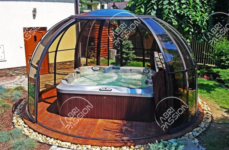 abri spa rétractable modèle dome orlando